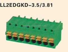 Green Plug-in Terminal Block Pitch3.5/3.81MM
