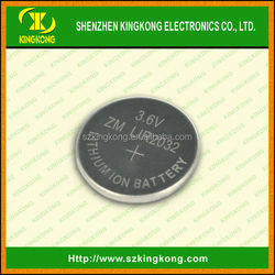ZnMn LIR 2032 Coin Battery 3.6V Button Cell battery