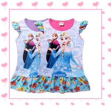 new baby girls fashion clothes kids frozen t-shirts for 2-7 years children tops