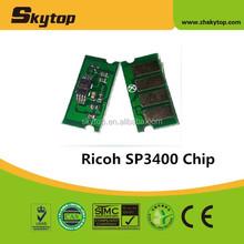 Hot! compatible toner reset cartridge chip for ricoh sp3400 sp3410
