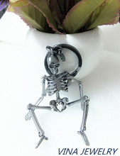 unique design mexican skull robot man key chains pendant for halloween gift