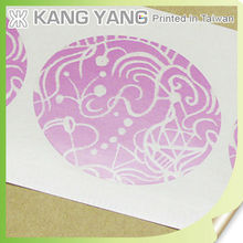 Colors Printing Adhesive Round Transparent Stickers