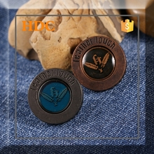 2015 newest design fashion custom metal self cover buttons for jeans