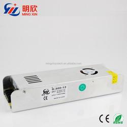 strip shape led power supply 12V led power supply slim case 12v 300W led power supply