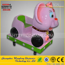 Pink Elephant coin operated swing fiberglass animal kiddie rides for kids amusement park rides game from China