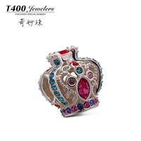 T400 2015 new Fashion joyas 925 sterling plata crystal from swarovski elements bead Q167