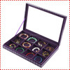 12 crossed wholesale leather wooden jewelry display box