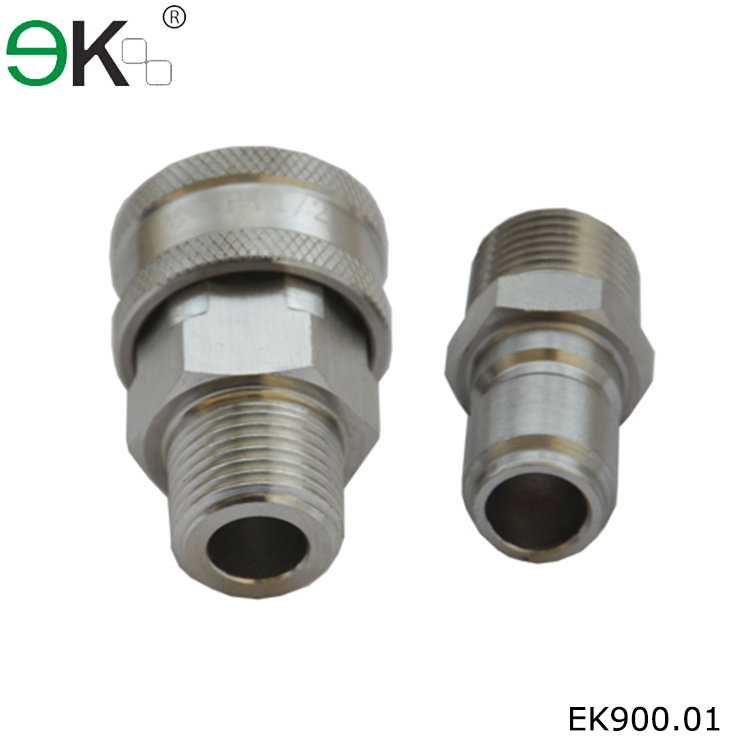 American type brass male threaded hydraulic hose coupling