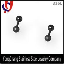 New fashion steel ear barbell cartilage for man ear piercing jewelry