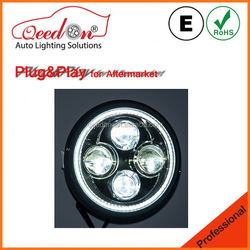 Qeedon newest product chrome 80w h4 led head lamp used for harley davidson