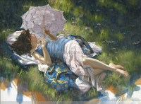 Impression oil paintings of girls pictures beautiful wall decoration