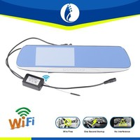 Wire Free installation 5inch TFT LCD Wireless wifi Car gps Recorder Backup Night vision, Rearview Panoramic Mirror
