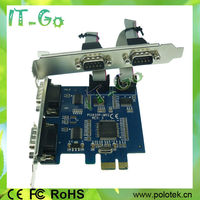 4 RS232 DB9 Serial Port PCIe Card With Moschip 9904