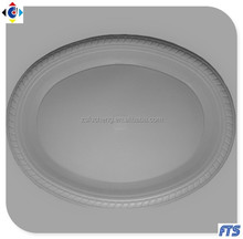 11x13 inch Disposable Oval Plastic Dinner Plates
