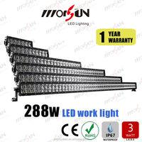 auto parts . 50'' LED light bar 288w offroad led bar sales promotion