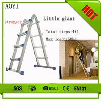 2015 Hot sale fashion design easy to carry double extension trestle ladders AY-604