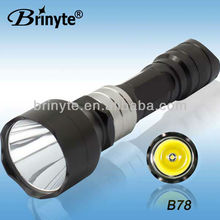 Outdoor high power emergency protable Aluminum 18650 Led flashlight
