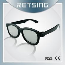 Circular polarized 3d glasses, plastic 3d spectacles