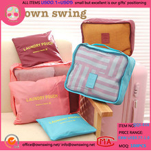 HOT SELLING Travel Clothing Organizer Bag Sets/Waterproof Storage Mesh Pouch/Colorful Cosmetic Bags/set For Journey