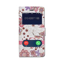 Flower PU leather flip cell phone case cover for samsung young 2 G130