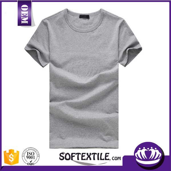 Top quality ring spun cotton t shirt plain t shirts bulk Bulk quality t shirts