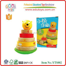 Kids Game Toy Wooden Child Educational Puzzle- Bricks Bear Block Tower