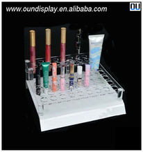 countertop cosmetic eyebrow pencil display stand acrylic custom pen display holder