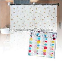 Eva byn 1.8*1.8 m cortina de ducha de peva cortina de ducha de artículos para el hogar cortinadeducha dq-yl12