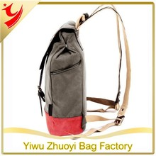 Vintage Style Unisex Fashion Casual School Travel Shoulder Backpack bag with laptop Compartment