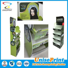 corrugated cardboard greeting card display stand