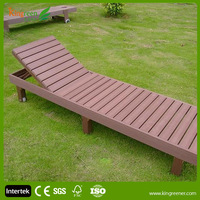 Kingreen Waterproof beach chair wood made from wood plastic composite materials eco friendly