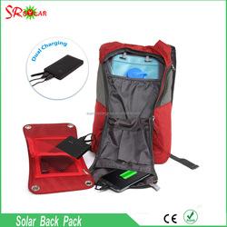 7 W Solar Charging Panel, 1.8L Hydration Solar Backpack/Water Bladder Solar Bag