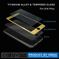 Full Cover 0.3mm 3D Covered HD Clear 9H Aluminium alloy tempered glass screen protector for iPhone6 Plus 5.5''