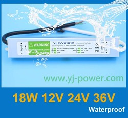 led driver 12v 18w CE RoHS certification led light driver wholesales 10pcs/lot, DHL Fedex free shipping