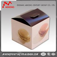 Custom cheap printed matt paper box for packing cake