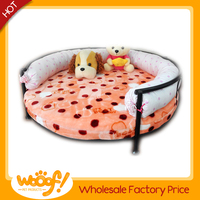Hot selling pet dog products round metal dog bed
