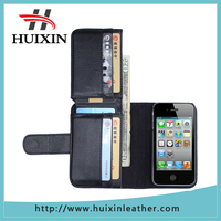 Alibaba trade assurance litch leather for iphone phone case , phone wallet for iphone4