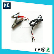 red/black clip 12v plastic battery cables