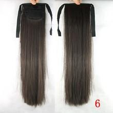 Straight Hair Piece Human Hair Drawstring Ponytail/wrap around hair ponytail