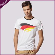 China manufacturer wholesale custom printing men round neck t shirt