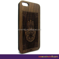 2015 wood carving case for iphone 6 Carved bamboo Wood Mobile phone wooden phone case for samsung s5