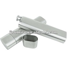 2OZ exquisite stainless steel cigar tube hip flask
