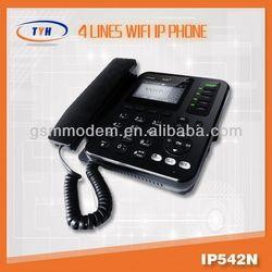 Hot sale!4 line wifi IP phone/wifi sip desk phone