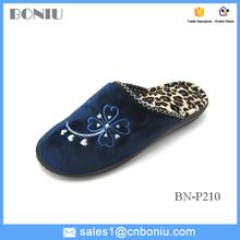 super soft plush indoor rubber slipper for lady