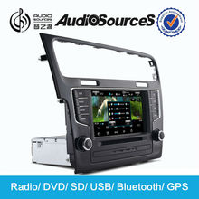 Audiosources touch screen car DVD palyer with car GPS navigation car radio for VW Golf 7