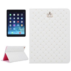 Flip Leather case for ipad air 2 case with Crown Pattern and holder