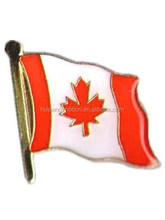 China factory supply Canadian national flag lapel pin/metal flag badge