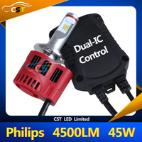 NEW Upgrade More Stable and Reliable Superbright 45W 4500LM Auto LED H10