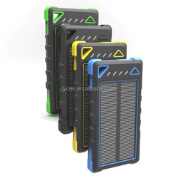 2016 NEW 8000mah waterproof portable power charger solar panel