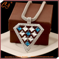 The new Europe and the United States big gem costly shape not rub off brief paragraph collarbone chain necklace